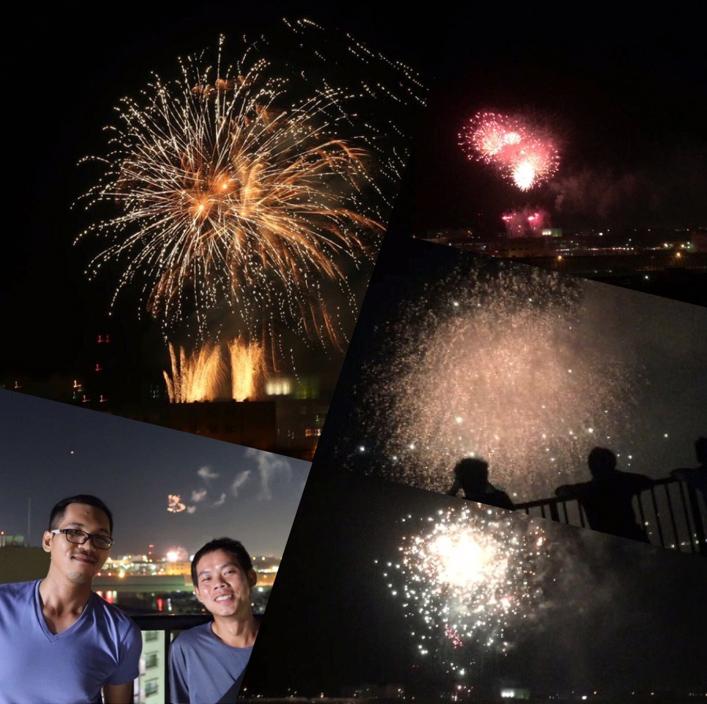 「日本の花火はカンボジアの花火とは比べ物にならないくらいたくさんの花火があがり、とても綺麗で驚きました」